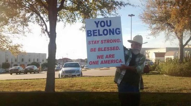 A Texas Man's Roadside Message for Muslims