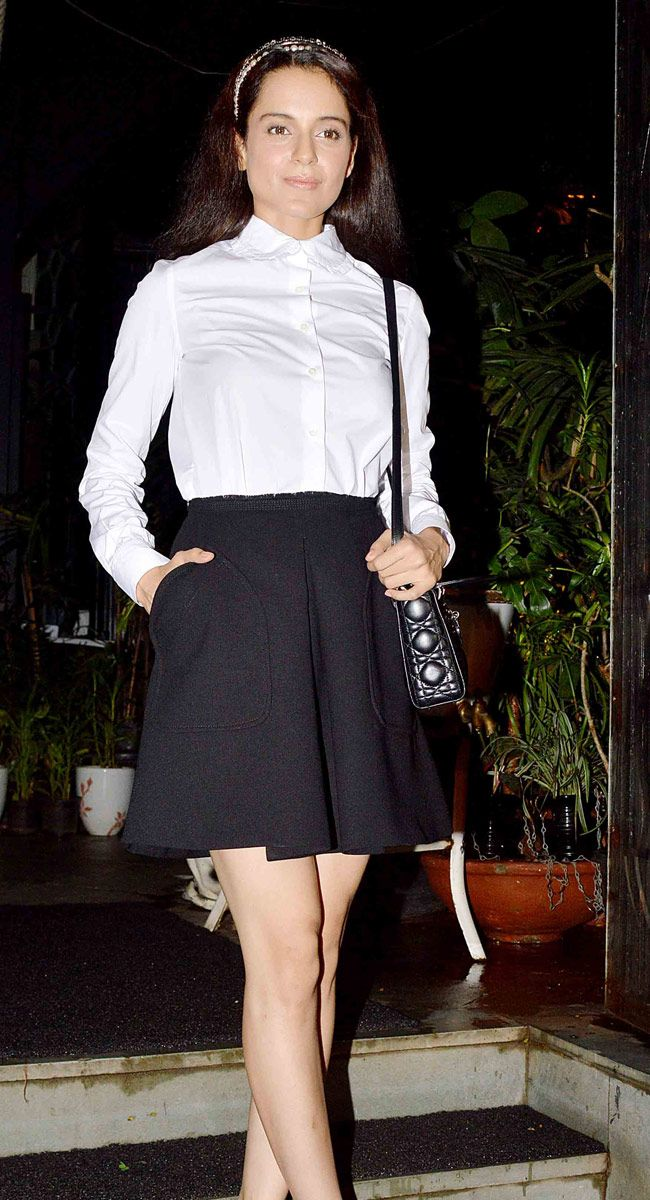 Kangana Ranaut at a party with 'Katti Batti' - #KattiBatti -team. #Bollywood #Fashion #Style #Beauty