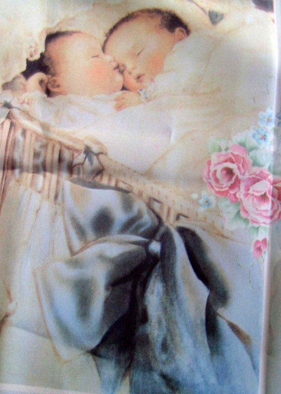 Vintage Bessie Pease Gutmann Happy DreamsQuilt Top, Baby Quilt