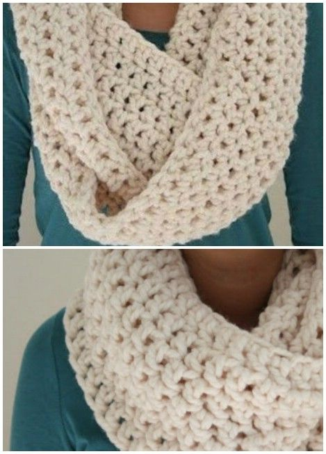 Cozy and chunky infinity scarf!