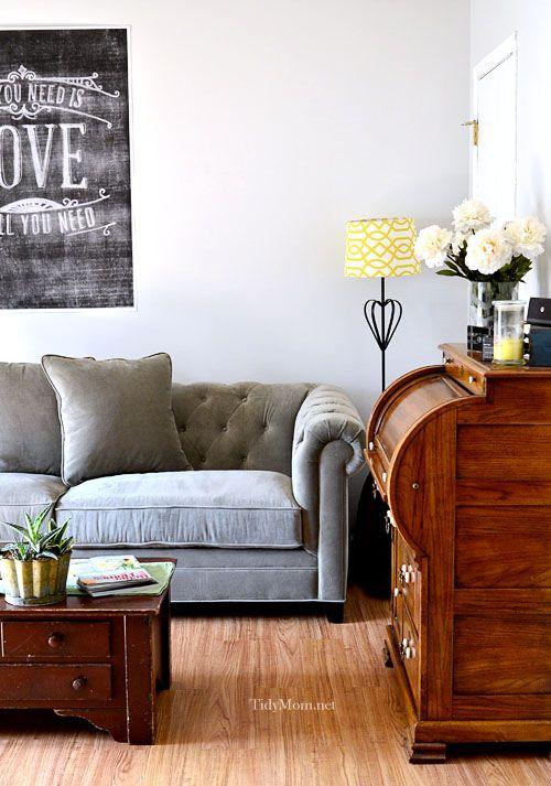 Martha Stewart Saybridge Tufted Back Sofa Tufted Sofa