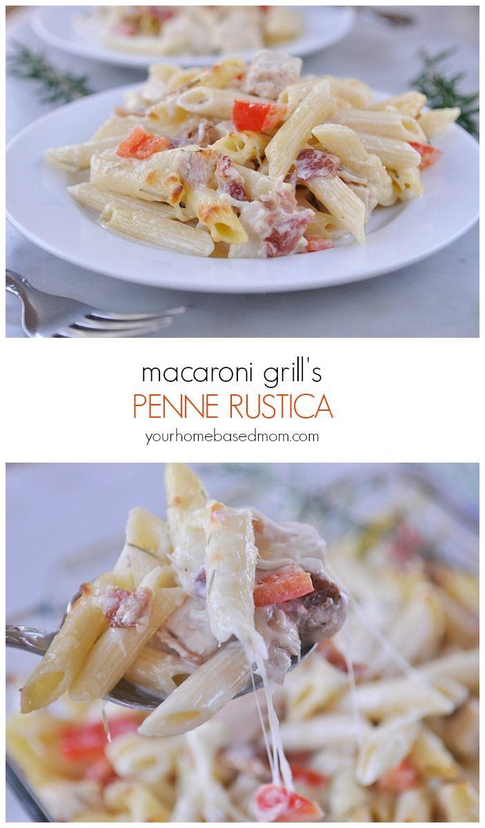 macaroni grills penne rustica @yourhomebasedmom.com
