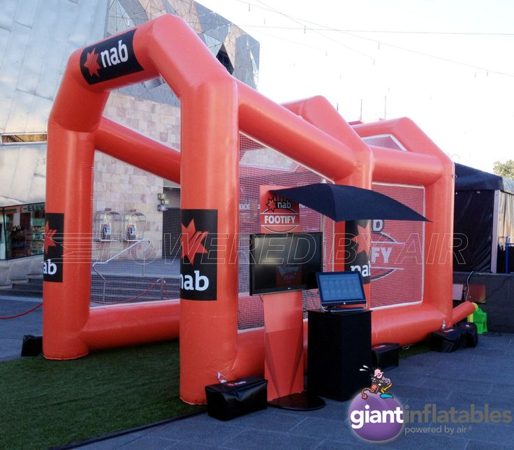 inflatable footy speed kick enclosure