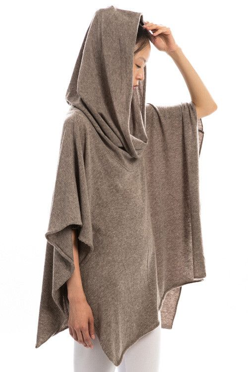 Knit Poncho in Smoke – Sweater Weather Co.