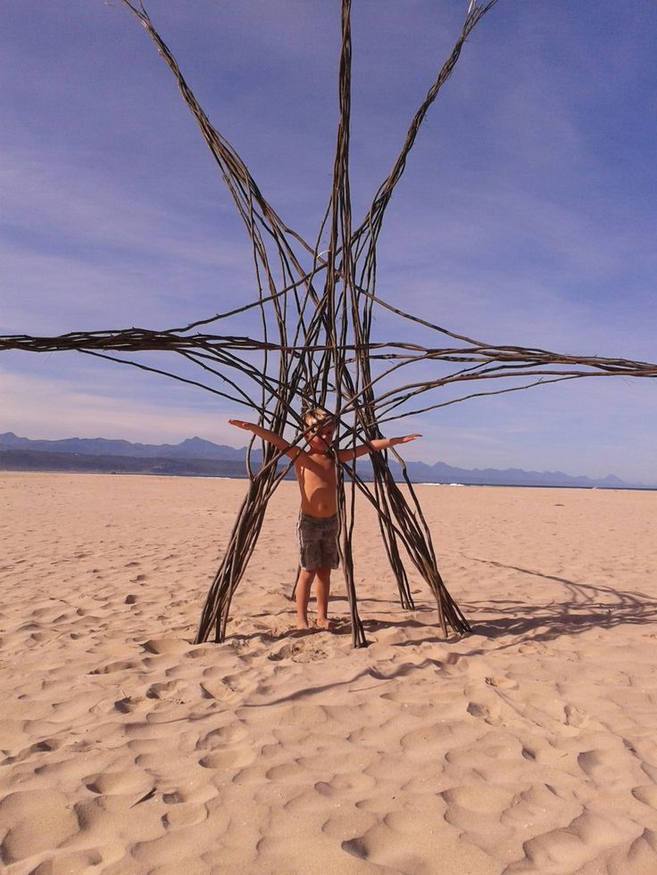 FACEBOOK 17 Aug. Brenda Witte (photo). Majestic inspiring #LandArt, #Plett beaches yesterday. In absolute awe. 'The Earth Pods' by Kim Goodwin and Lara KirstenSite_Specific #LandArtBiennale