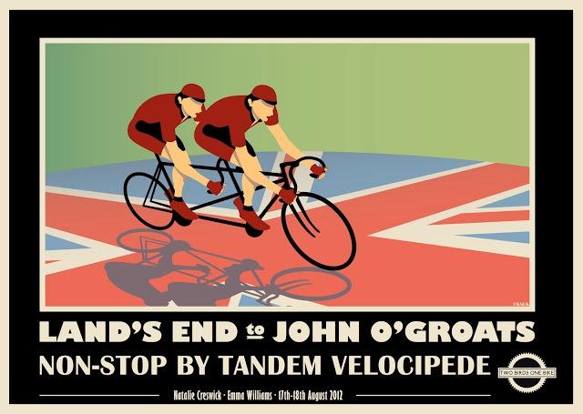 vintage tandem poster