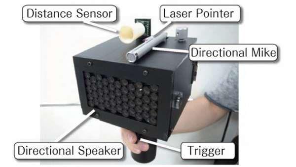Japanese Inventors Create Speech Jamming Gun to Shut Up Chatty Cathy's #mostamazinggadgets #techgadgets trendhunter.com