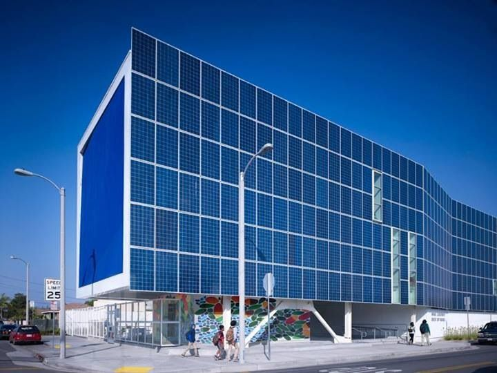 Solar Cell Facade Building
