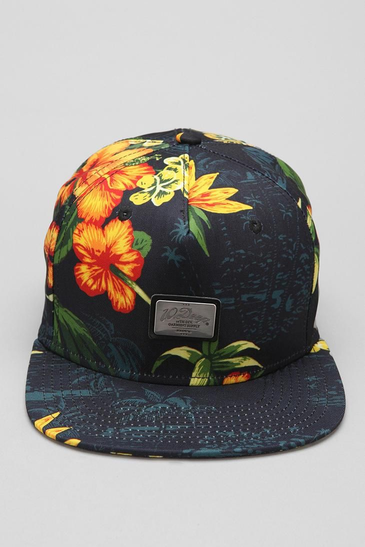 Tropical snapback hat from 10.Deep.