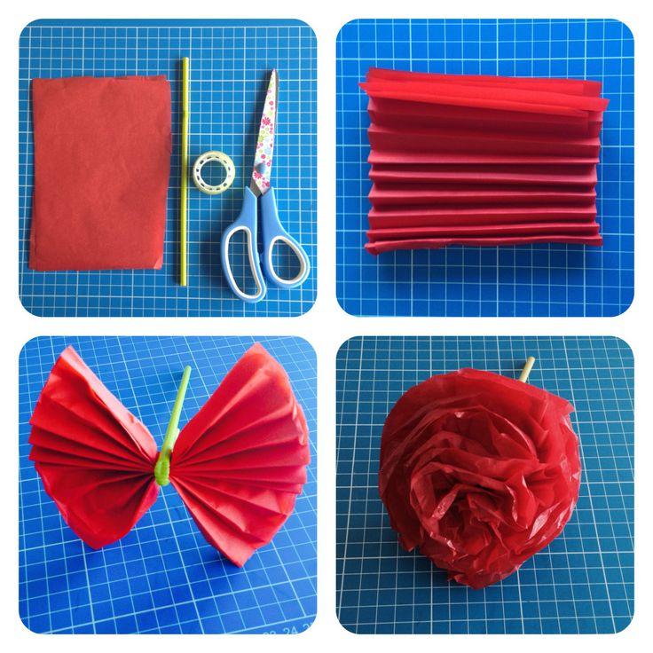 claveles de papel seda