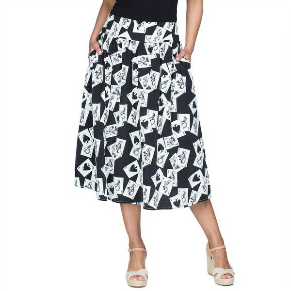 Threadz Ace of Spades Skirt Pretty casual Style fashion skirt for women