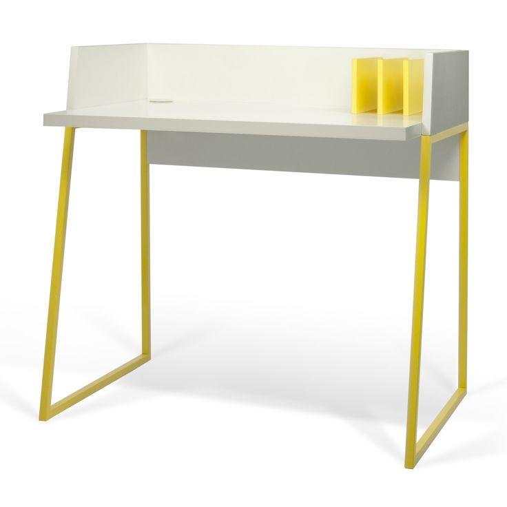 Bureau design en bois 3 compartiments L90cm VOLGA TemaHome port offert