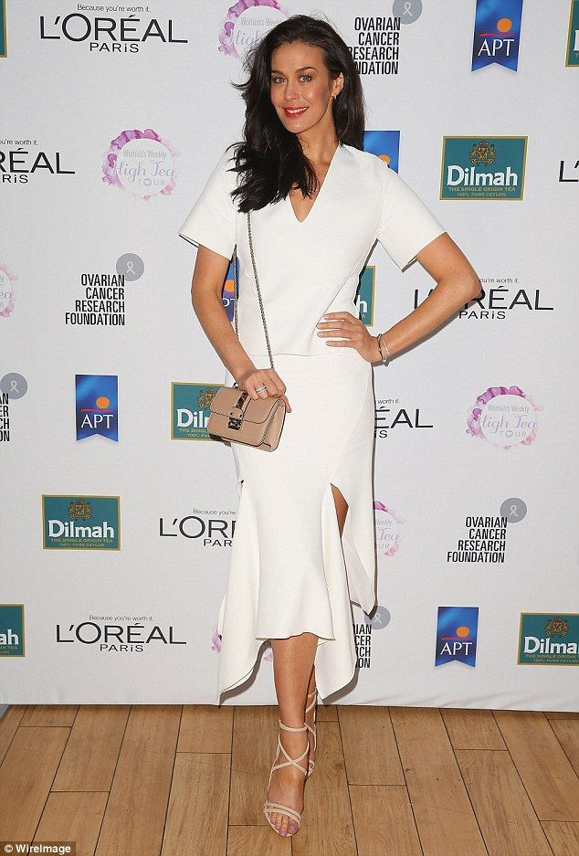 Leading the way: Megan Gale was in attendance at the #10Hours high tea event in support of...