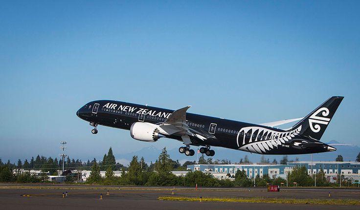Our new 787-9 Dreamliner taking off. #AirNewZealand #AirNZ #NewZealand