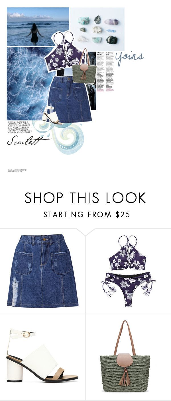 """"""">> Yoins << El cielo es azul"""" by lejournaldessecrets ❤ liked on Polyvore featuring Giorgio Armani, yoins, yoinscollection and loveyoins"""