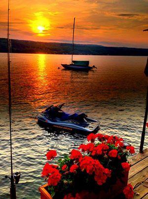 sunset on Keuka Lake, my favorite Finger Lake | New York State | Pinterest | Sunset, Finger and Lakes