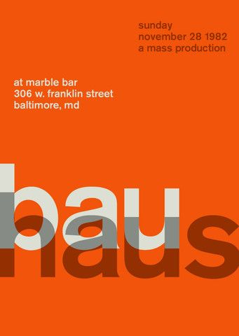 Holy freakin' moly!! I have the original poster for this gig. I'd like this one too!! bauhaus at marble bar, 1982.  http://www.swissted.com/