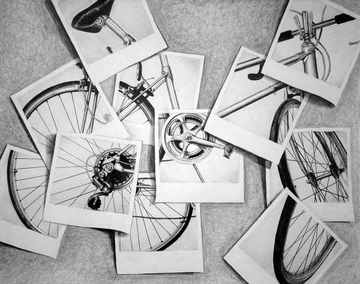Risd bike study (my notes: take pics and cut apart...each student gets one square and must enlarge...value study...print in B)