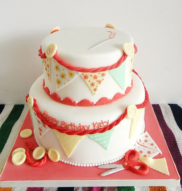 Bunting Flag Cake | 25 Craft-Inspired Desserts That Are (Almost) Too Cute To Eat