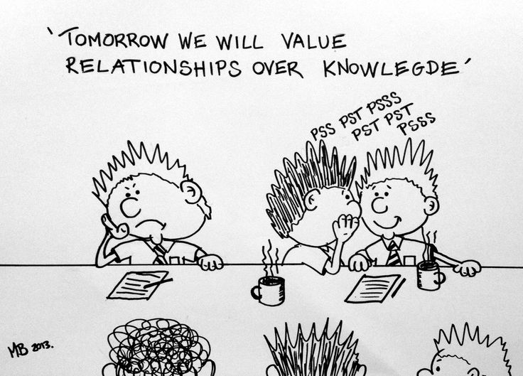 Tomorrow we will value relationships over knowledge.