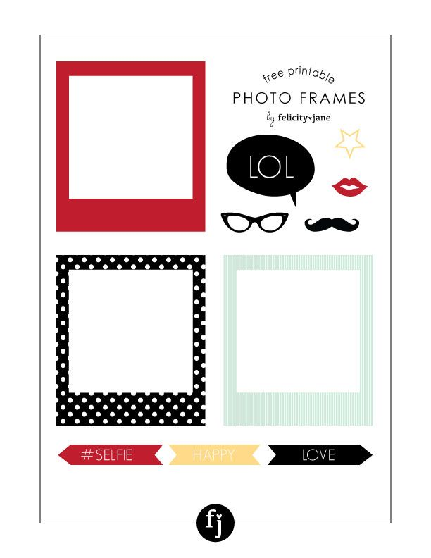 Free Printable Photo Frames | FelicityJane.com