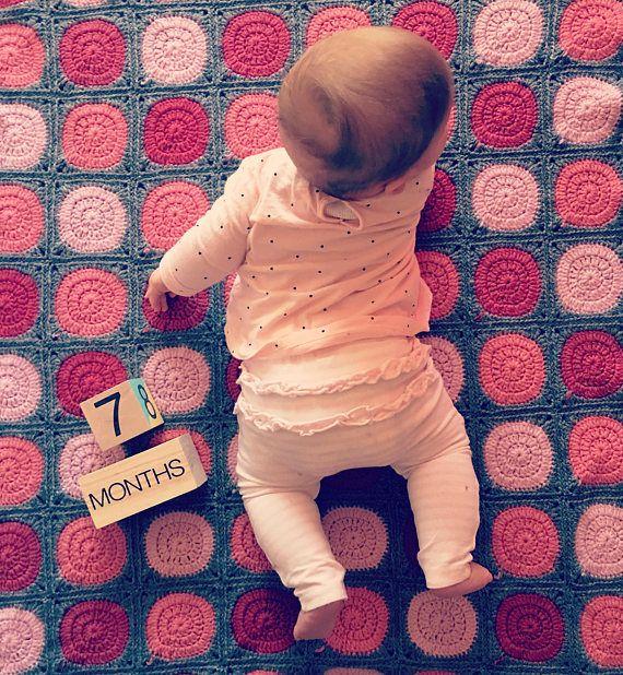 Crochet baby blanket pram blanket cot blanket customised