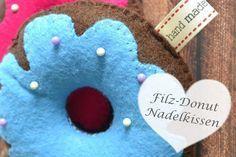 Kristallzauber: {DIY} Filz-Donut Nadelkissen - gratis Schnittmuster und Anleitung - Donut Pincushion - free pattern