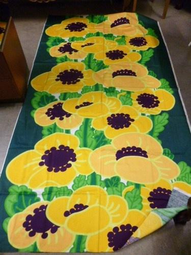 "Tampella Finland Marjatta Metsovaara ""Anemone"" Big Vintage 70's Fabric Fresh | eBay"