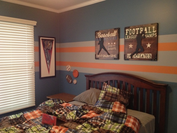 Sports theme boys room boys 39 room designs decorating - Comely pictures of basketball themed bedroom decoration ideas ...