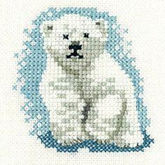 Mini Polar Bear Cub, Little Friends Cross Stitch Kit