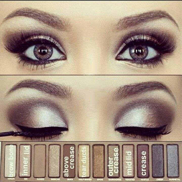 """Another gorgeous eye created with the Urban Decay """"Naked"""" eye palette. I'd like to try it with my Mary Kay colors like Crystalline, Moonstone, Granite, Silver Satin, Black Pearl..."""