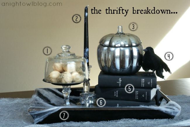 Twilight Inspired Halloween Display Breakdown at @anightowlblog