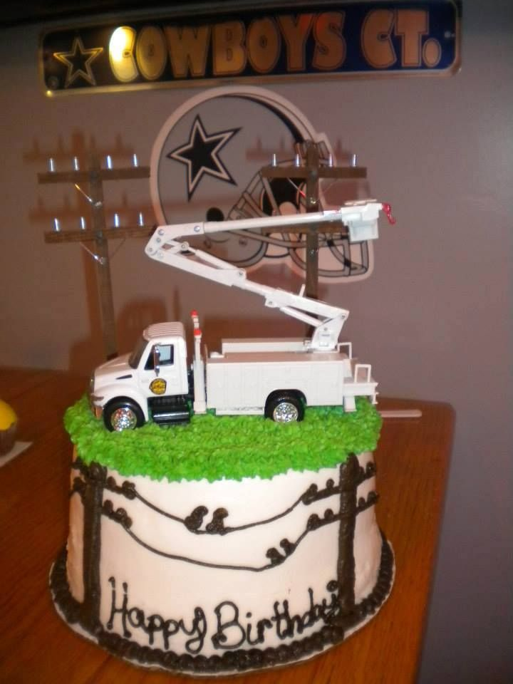 Lcub Lineman Truck Birthday Cake Krista S Cakes Krista S