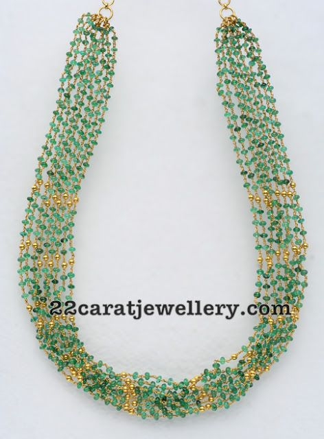 Jewellery Designs: Beads Strings Set
