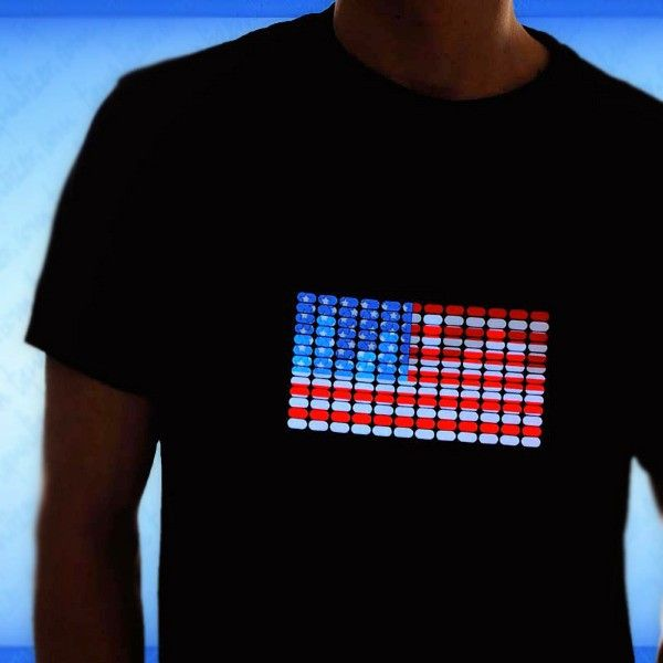 USA Flag Light Up LED Shirt by Gadgets and Gear
