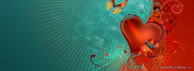 Valentines Heart Abstract Butterfly, Free Facebook Timeline Profile Cover, Love