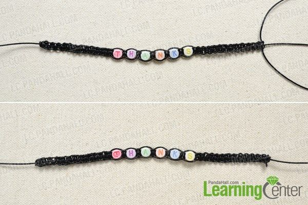 Weave the friendship bracelet with letters