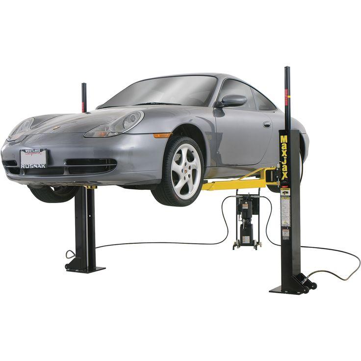 FREE SHIPPING — Dannmar MaxJax Portable Auto Lift — 2-Post System, Mid-Rise, Model# 120050/Maxjax   Two-Post Lifts  Northern Tool + Equipment