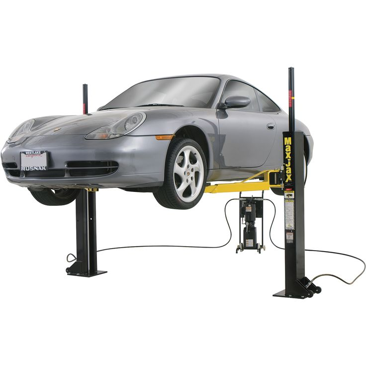 FREE SHIPPING — Dannmar MaxJax Portable Auto Lift — 2-Post System, Mid-Rise, Model# 120050/Maxjax | Two-Post Lifts| Northern Tool + Equipment