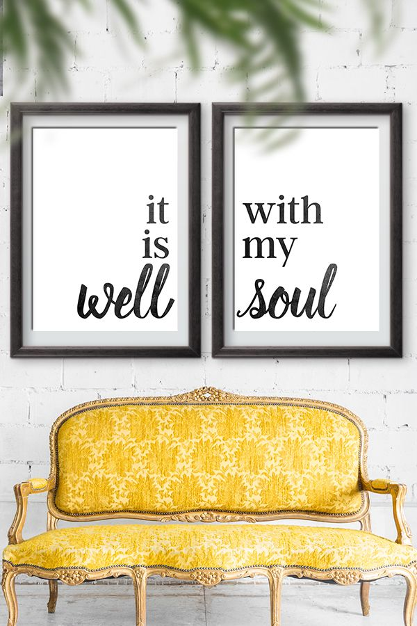 It Is Well With My Soul Sign   Free printables Signs   Home decor inspirational signs   oversized prints via @moritzdesigns