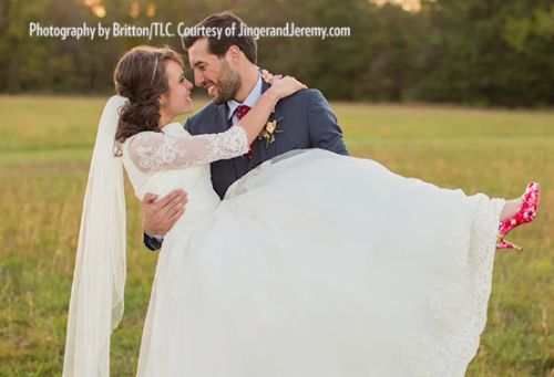 One of Jinger and Jeremy Vuolo's wedding photos