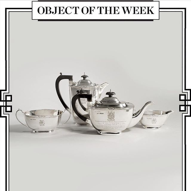 This week's Object of the Week is a silver tea service present to the football legend Sir Stanley Matthews in 1946 upon winning his 44th England cap from Wick Antiques. #ootw