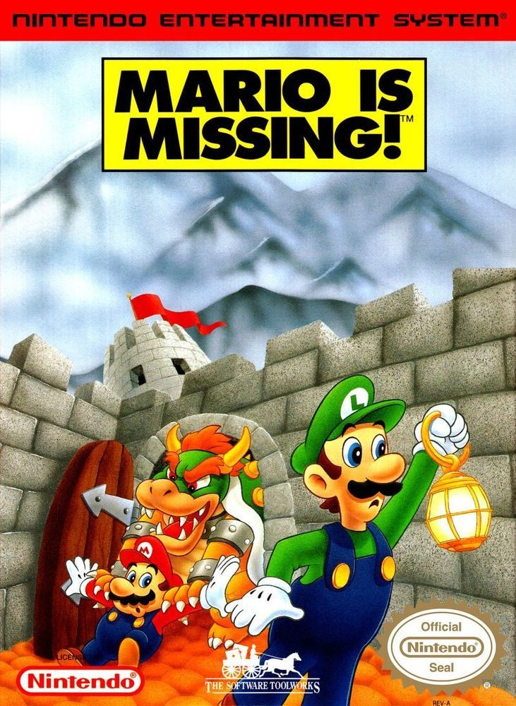Mario is Missing! for NES (1993) #TheSoftwareToolworks