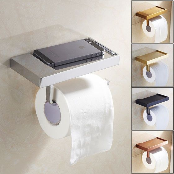 Do you wonder where to keep your #cellphone after you are done using it in the toilet? Install Sanliv #ToiletPaperHolder with Cell Phone Shelf
