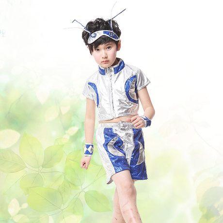 Шестьдесят - один мальчик хип-хоп альтман космос костюма Супермена одежда детские карнавальные костюмы , выполняющие современный танец одежда