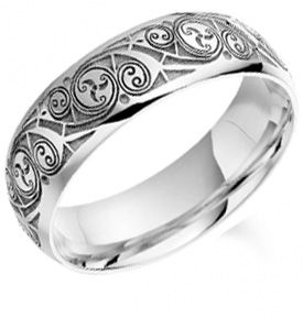 Palladium Book of Kells Wedding Ring - 5mm/6mm/7mm. For Adam