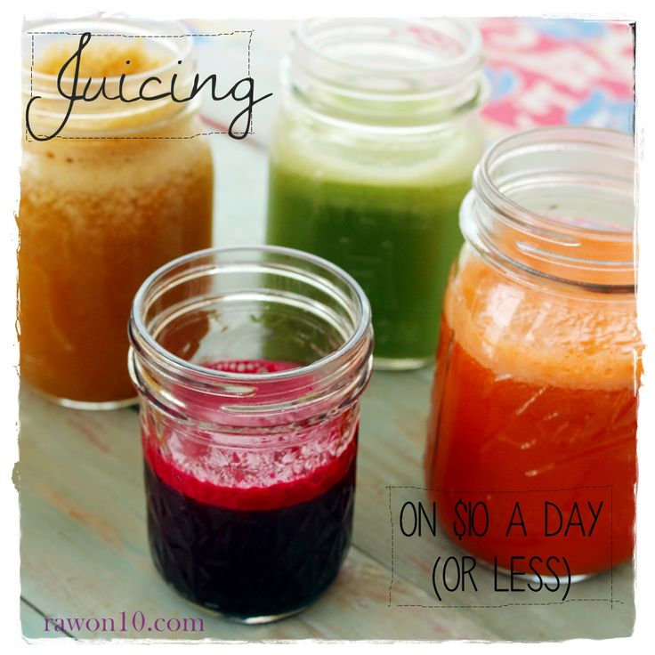 Juicing on $10 a Day (or Less) ... can it be done? Yes!!  Raw on $10 a Day (or Less!): Raw Food Recipes Menu: February 16, 2014 ... Juicing on a Budget