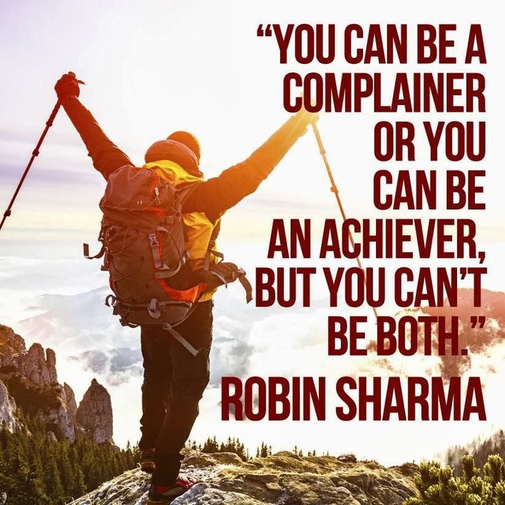 Stop complaining and go for it! - Robin Sharma quote Quotes for kids