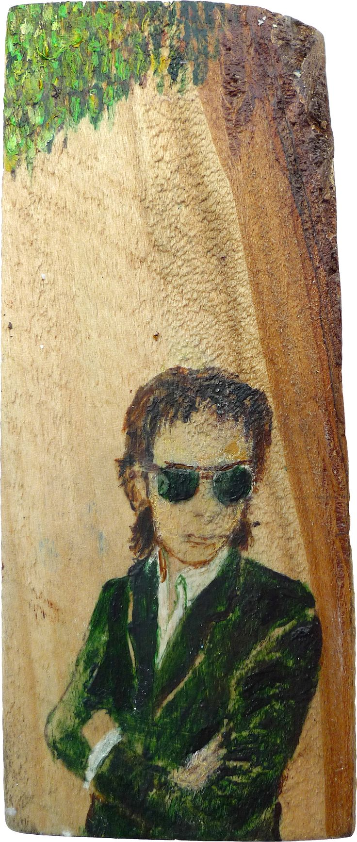 Nick (14x5cm acrylics and oil on wood)