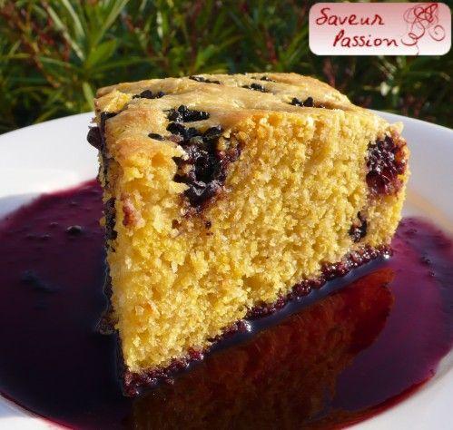 Gâteau amande et mûre à la polenta (sans plv)